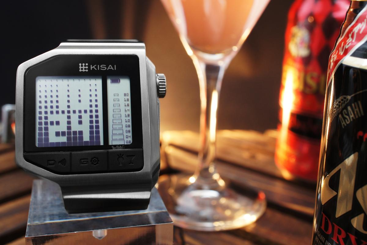 Tokyoflash is known for its puzzle-like displays, and that tradition continues with this latest watch, which shows digits as negative space amongst stacks of blocks on an LCD screen
