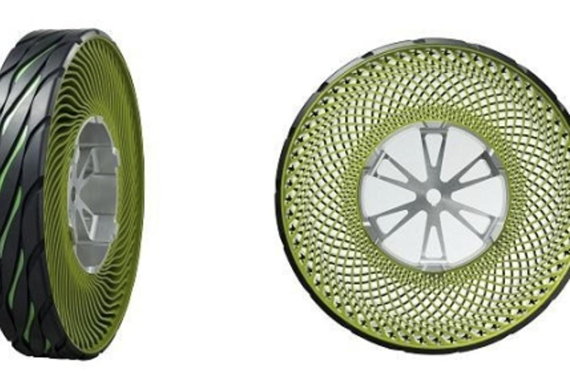 Bridgestone's airless tires are made from entirely recyclable material