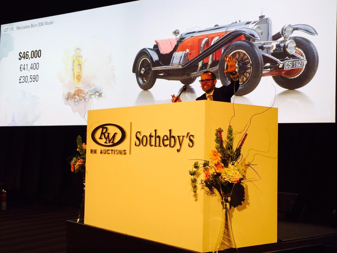 One particularly noteworthy specimens were the three foot long Mercedes-Benz SSK Model which fetched $52,900
