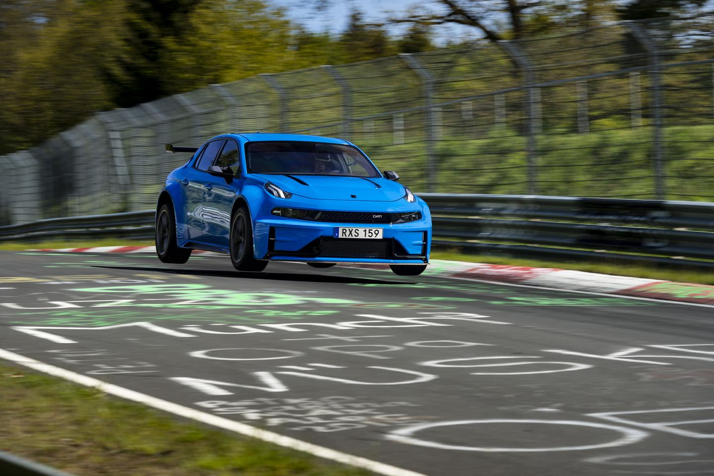 China's Cyan Racing has taken to the tarmac of Nürburgring and come out the other side as the holder of two new records