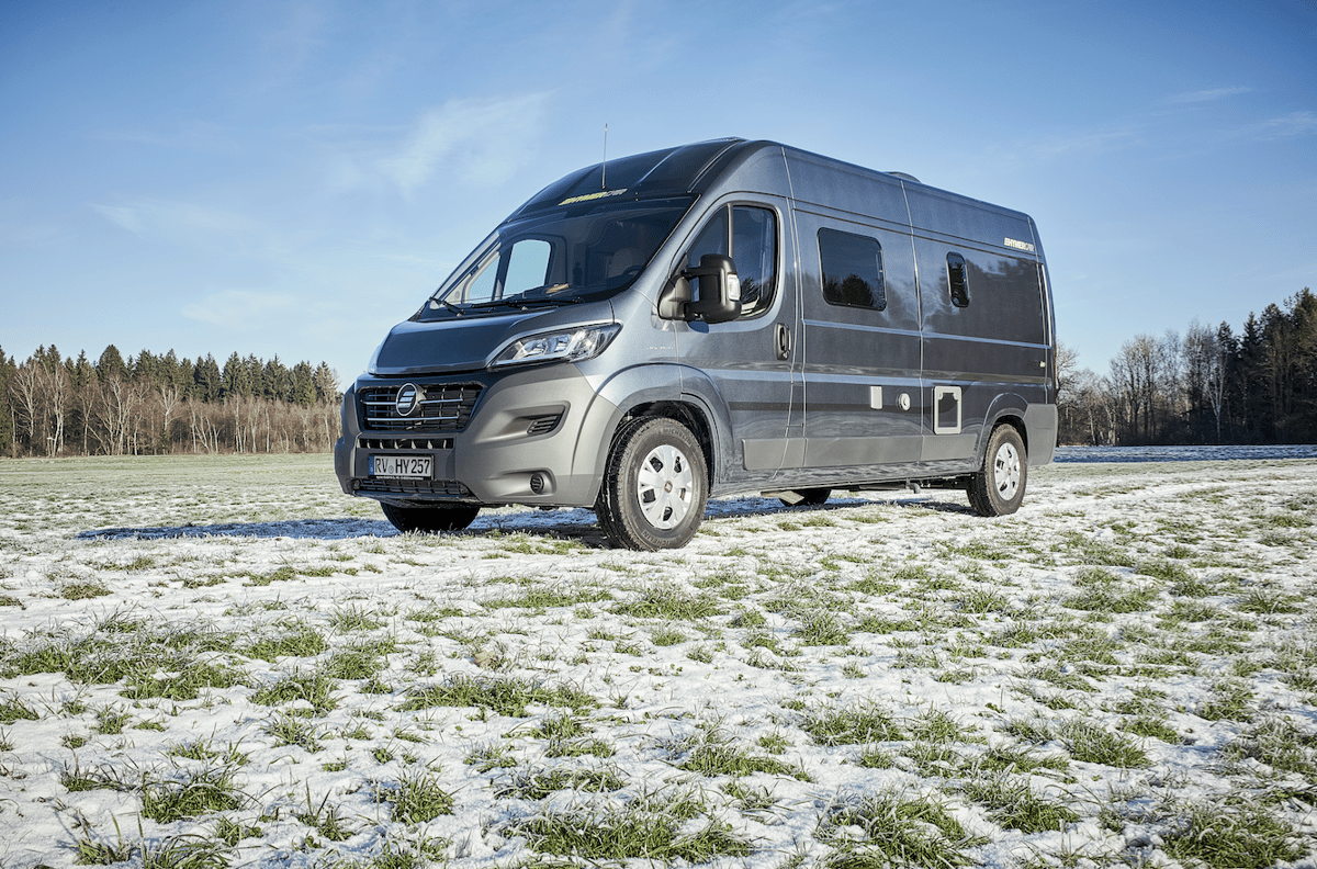 The Hymercar Free is based on a Fiat Ducato with 114-hp 2.0-liter engine