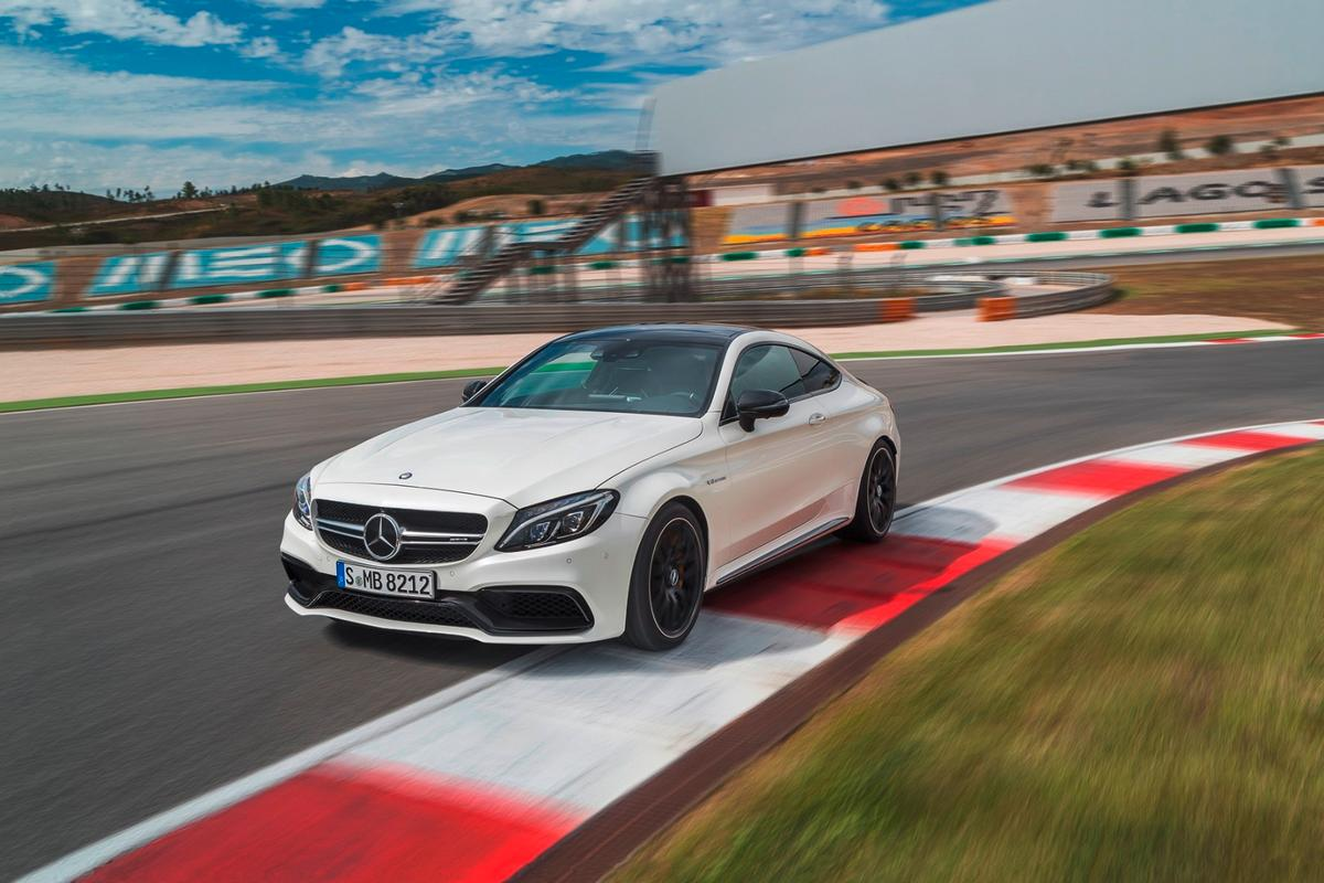 The top speed of the new C 63 Coupé is electronically limited to 250 km/h (155 mph), or 290 km/h (180 mph) with the AMG Driver's Package