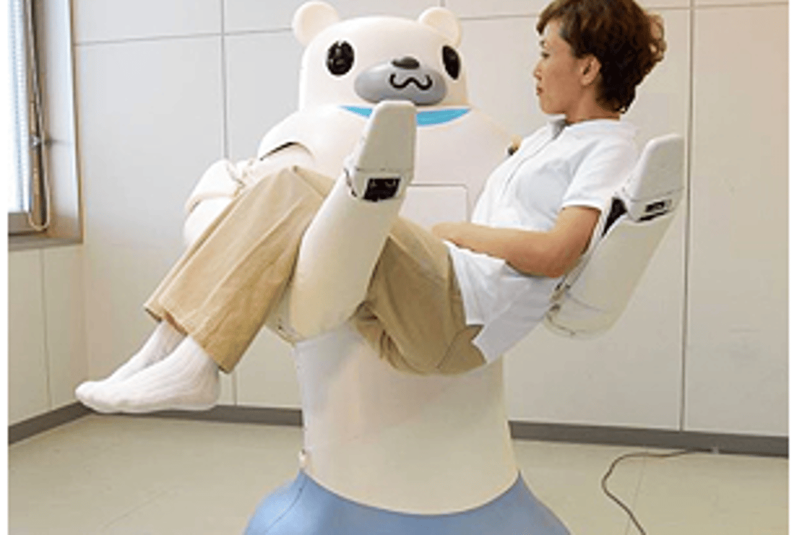 RIBA the robot nurse can lift and carry patients up to 61kg/134lbs