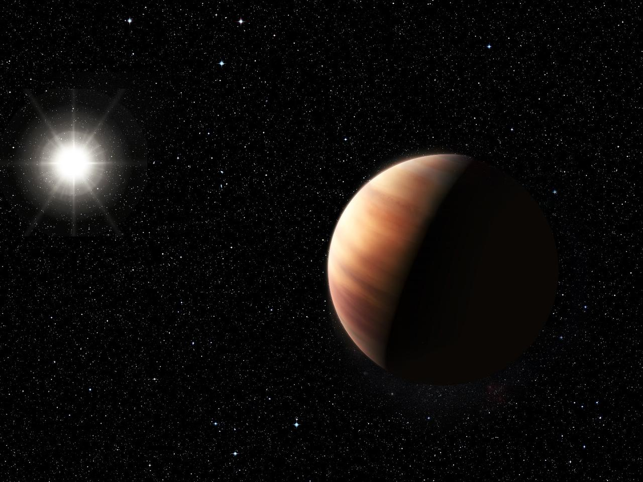 Artist's impression of Jupiter's twin orbiting HIP 11915
