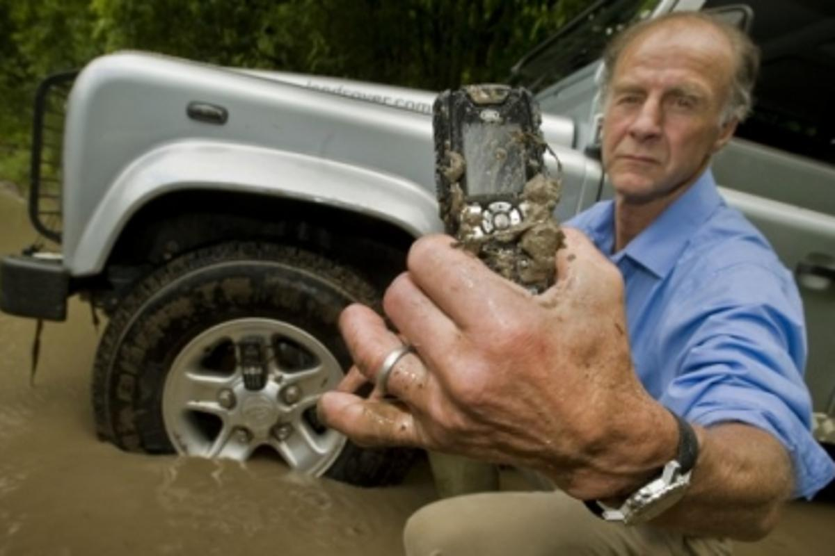 The Land Rover S1 is the world's first IP-67 rated GSM mobile, which means it is impervious to dust and waterproof to a depth of a meter