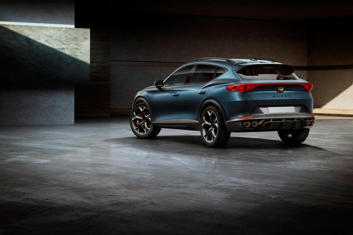 Cupra's Formentor concept, with its aggressive rear diffusers, is ready to bring serious downforce to your urban commute