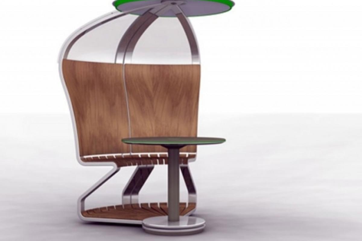 Mathias Schnyder's solar outdoor workstation