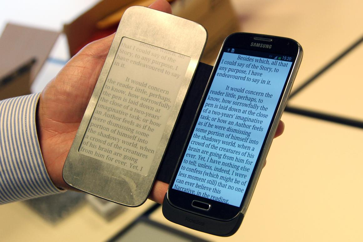 Prototype mobile phone covers foreshadow new wave of E Ink
