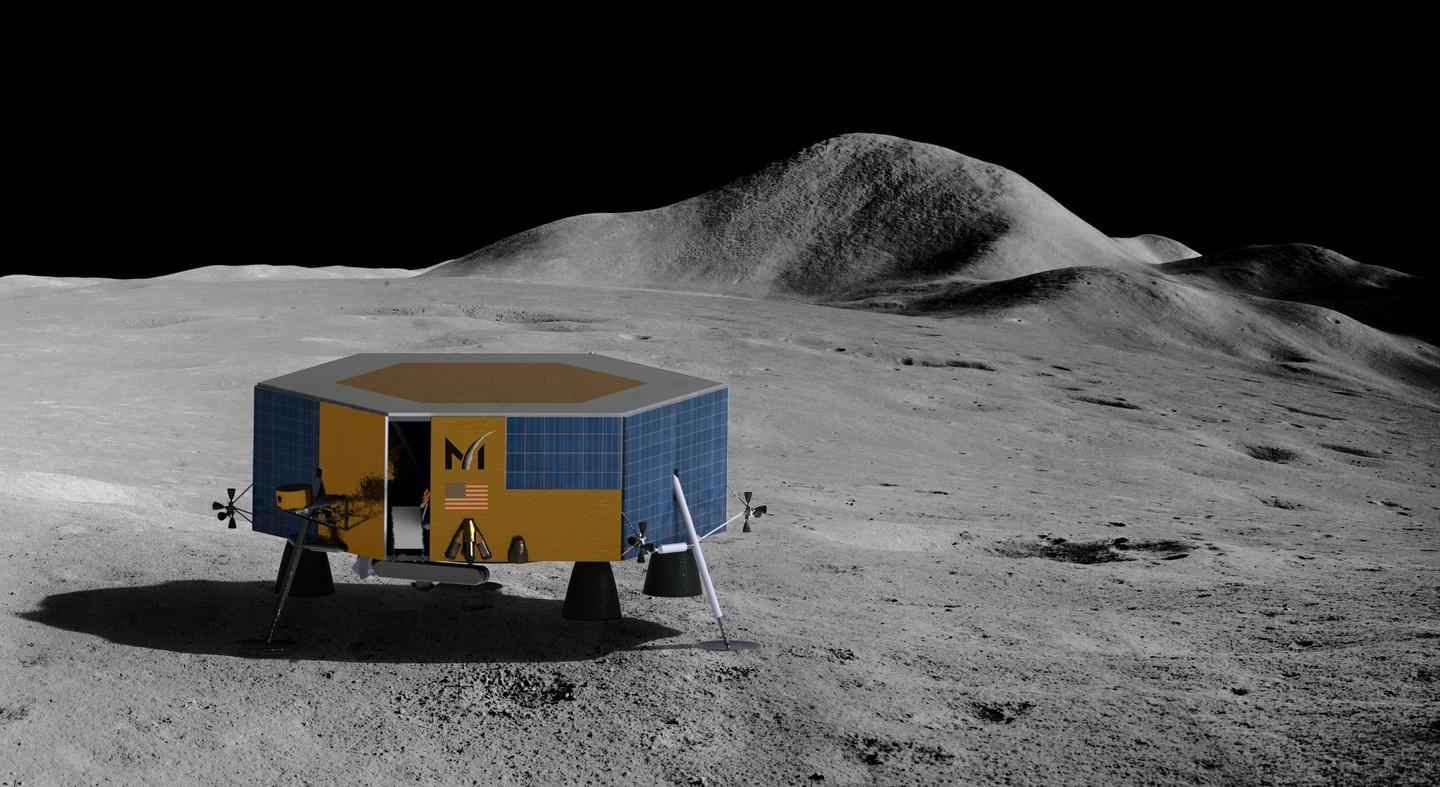 Masten's XL-1 lunar lander will deliver science and technology payloads to the Moon's south pole in 2022