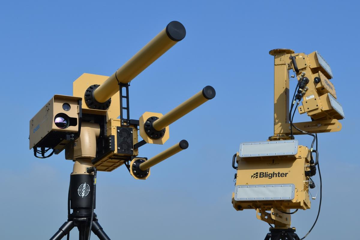 Anti-UAV Defense System uses radio beam to disable drones