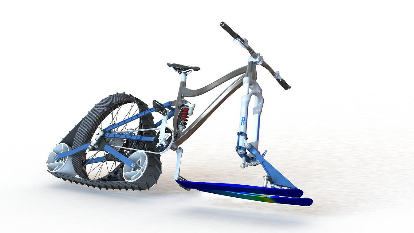 Project Avalanche snow bike rendering