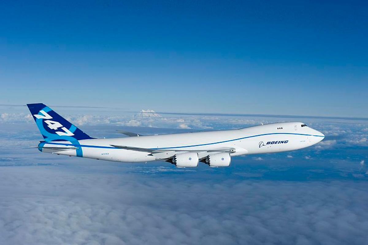 When the new Boeing 747-8 Freighter flies from Seattle to the Paris Air Show, it will mark the first time a commercial aircraft has crossed the Atlantic Ocean using biofuel (Photo: Boeing)