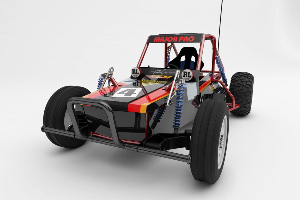 A scaled-up replica of a popular 1980s RC toy car that you can actually drive