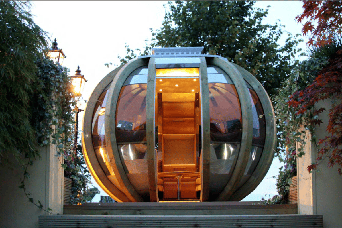G-POD is a futuristic looking portable unit that comes in four different options, designed to create a backyard lounge, dining room or office