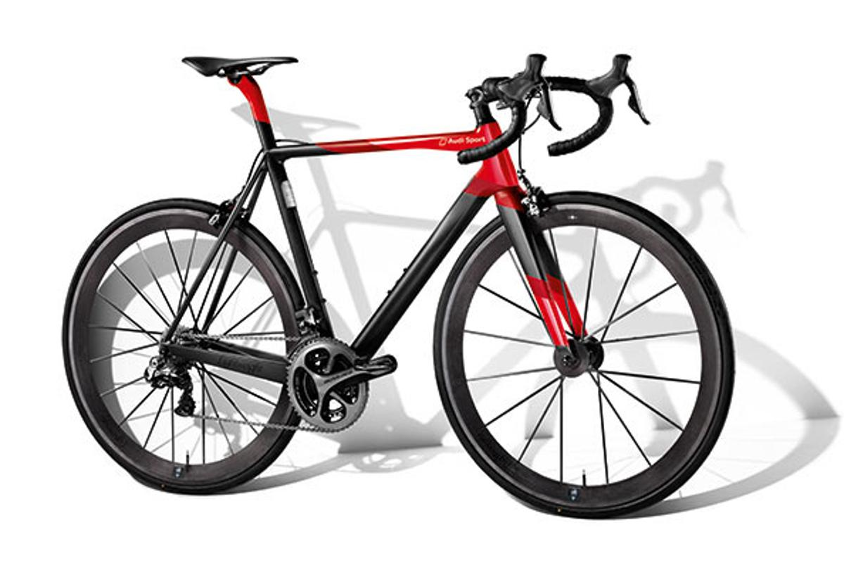 The Audi Sport Racing Bike costs features lightweight carbon throughout