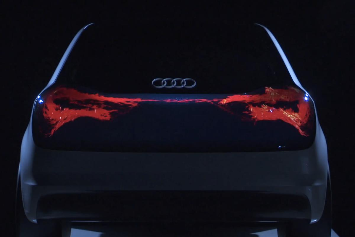 Audi's concept OLED taillight, Swarm