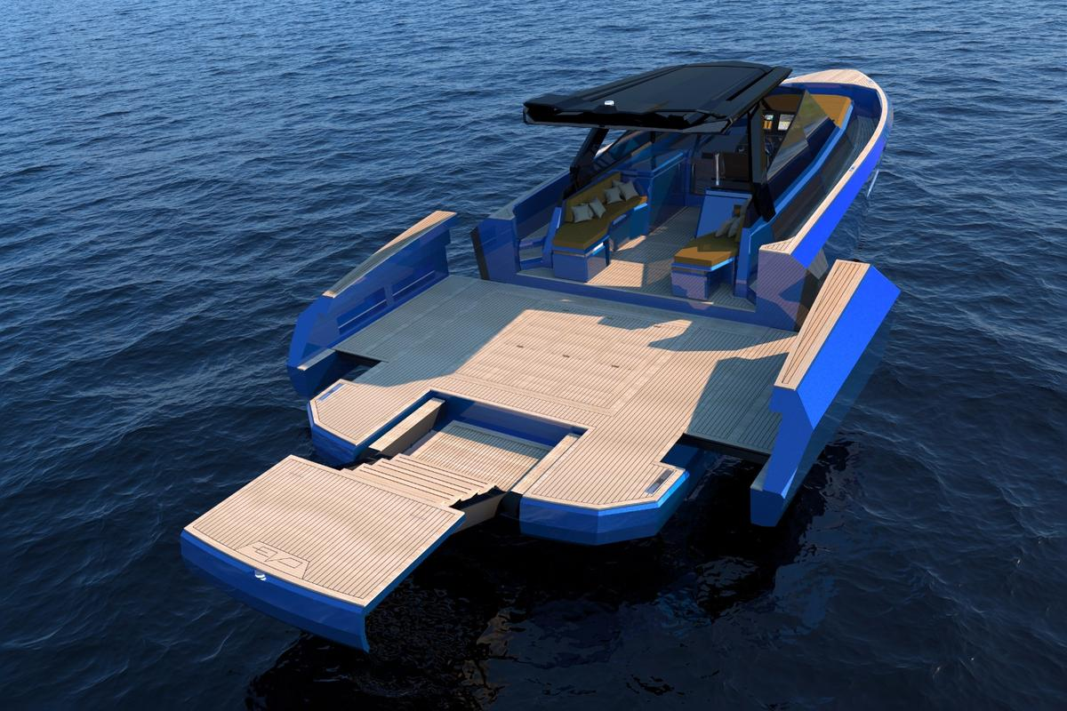 The WA features Evo's signature XTension system and the available fold-out, multi-position stern platfrom