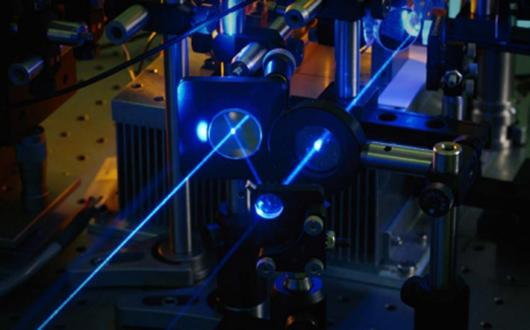 Lockheed Martin has demonstrated a new 30-kilowatt fiber laser (not pictured) produced by combining many lasers into a single beam of light