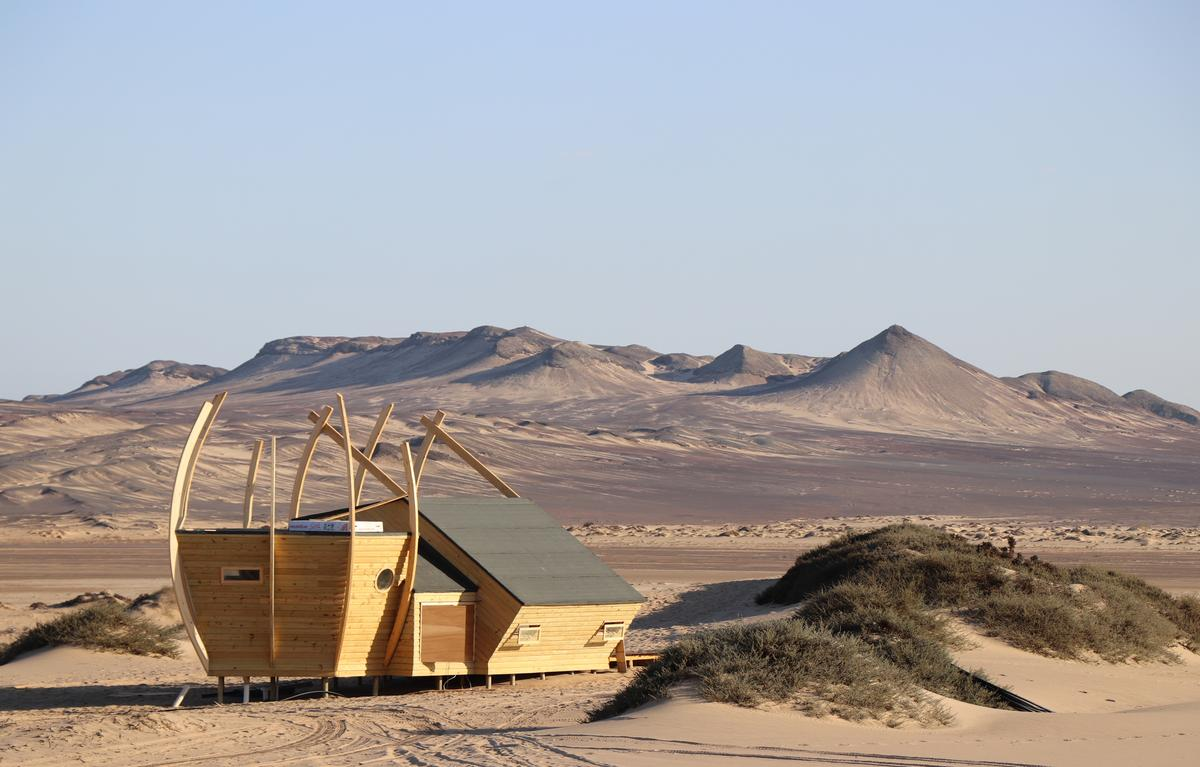 Shipwreck Lodge is a collection of 10 eco-minded cabins inside Skeleton Coast National Park