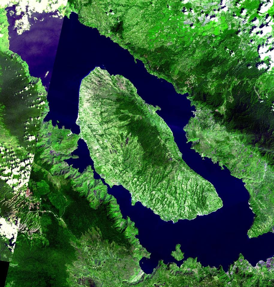 The Toba caldera in Sumatra, Indonesia, site of the grand daddy of all super-eruptions