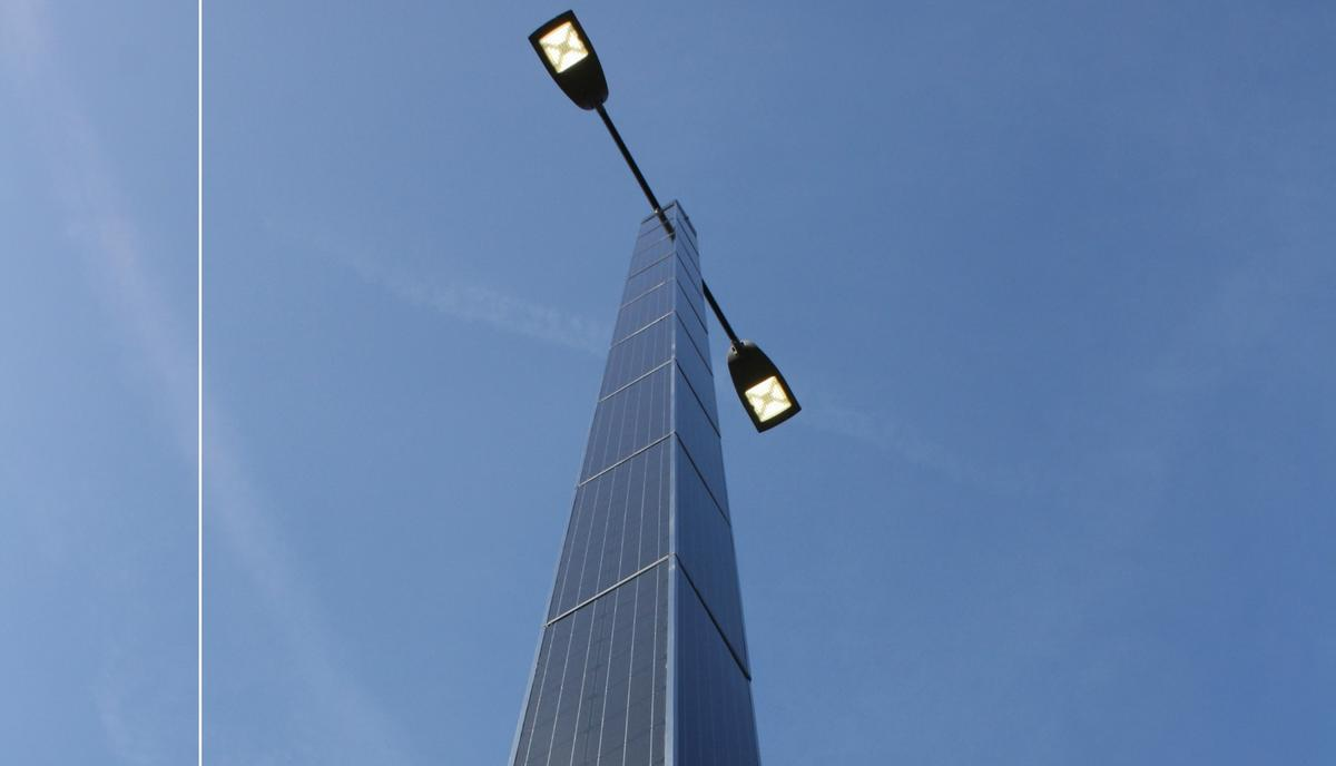 The new Spirit Solar Powered Lighting Column can be powered 100-percent by the sun