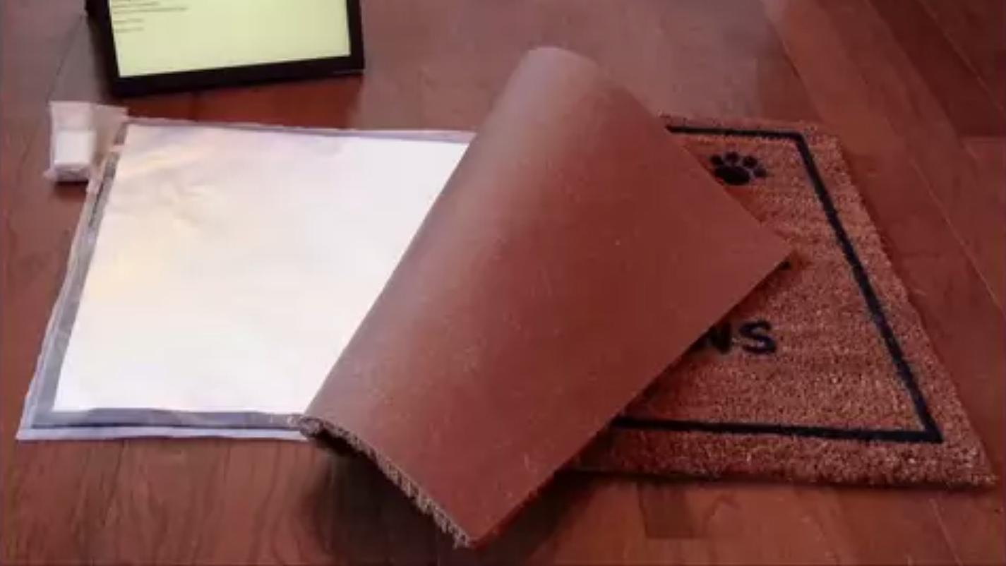 The SmartMat is a Wi-Fi enabled device designed to fit under a regular doormat