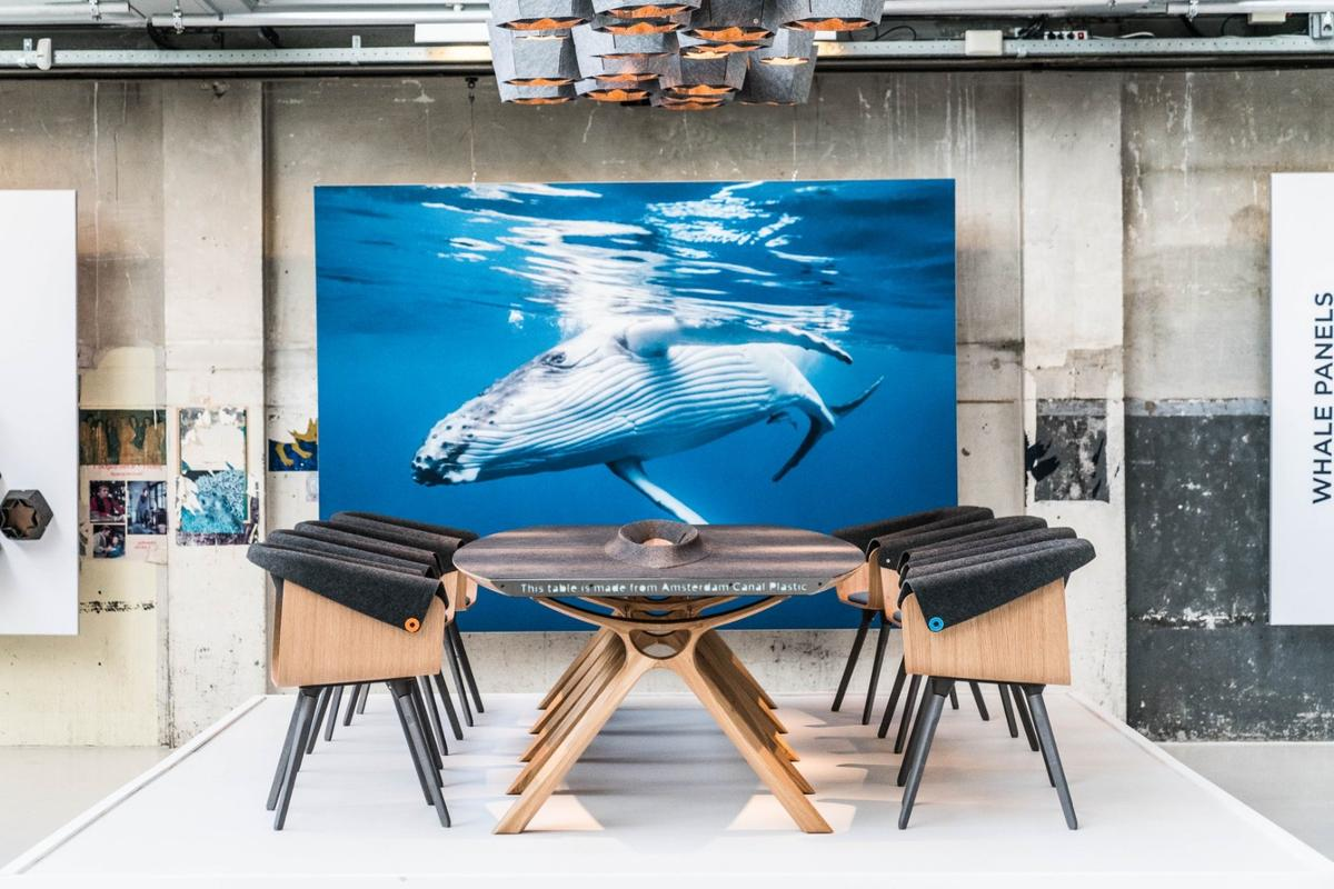Plastic Whale's latest venture transforms waste plastic into high-end office furniture