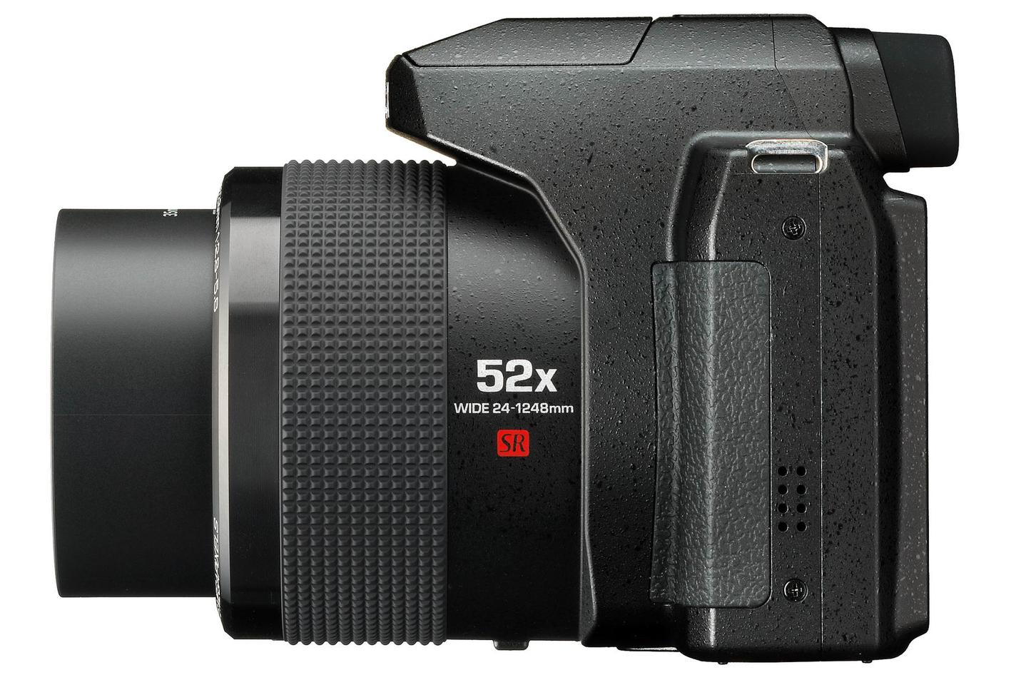 The lens on the Pentax XG-1 gives a 24-1,248-mm equivalent focal length range