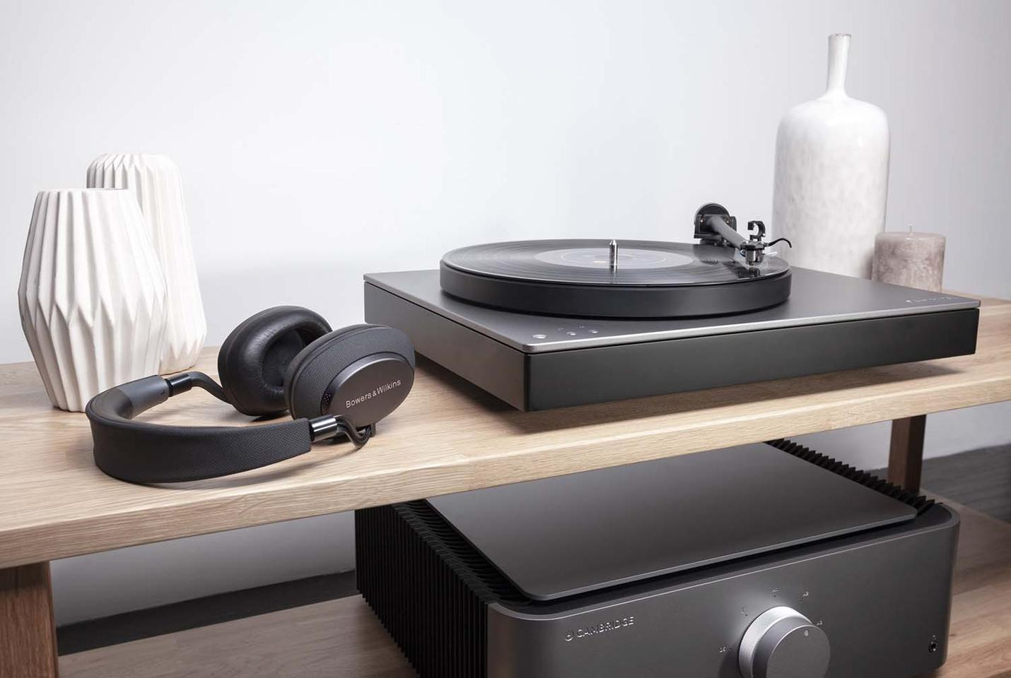 The Alva TT turntable can be wired up to a living room hi-fi system, or can stream high resolution audio to Bluetooth speakers and headphones
