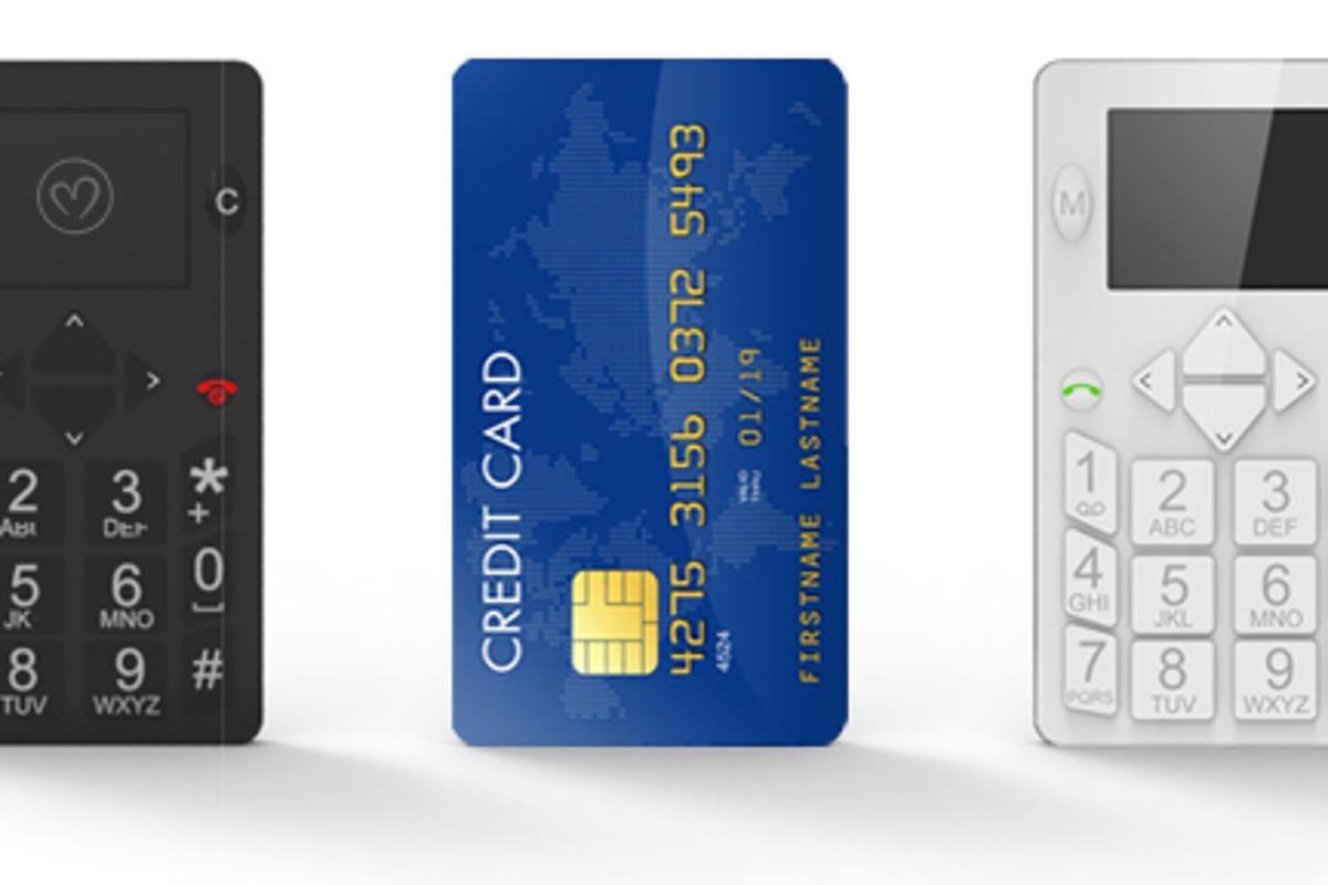Micro-Phone is about the same size as a credit card