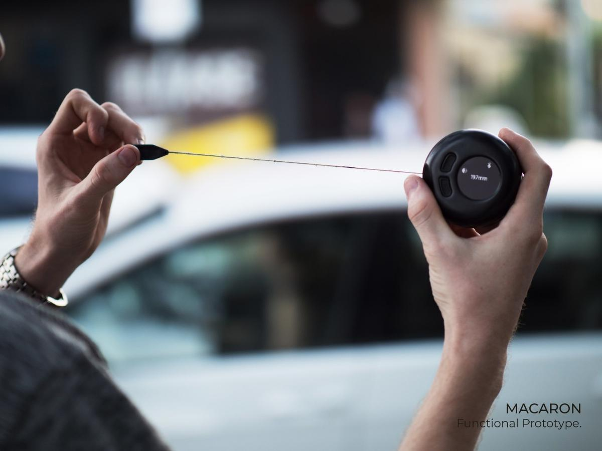 The Macaron is a smarttape measure designed to make it easier for the visually impaired to take measurements