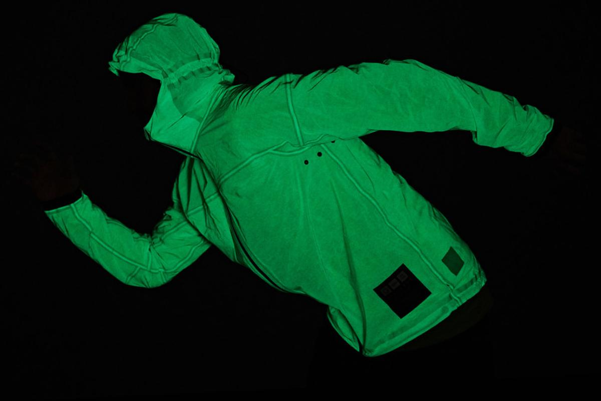 The US$350 glow-in-the-dark jacket