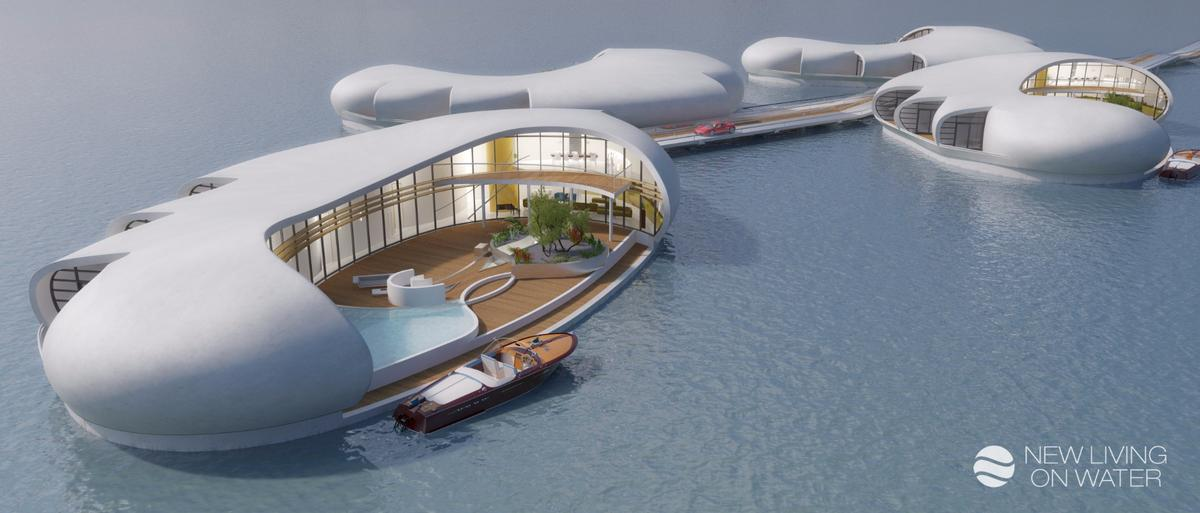 New Living on Water envisages the units being used for hotels, as well as for private homes