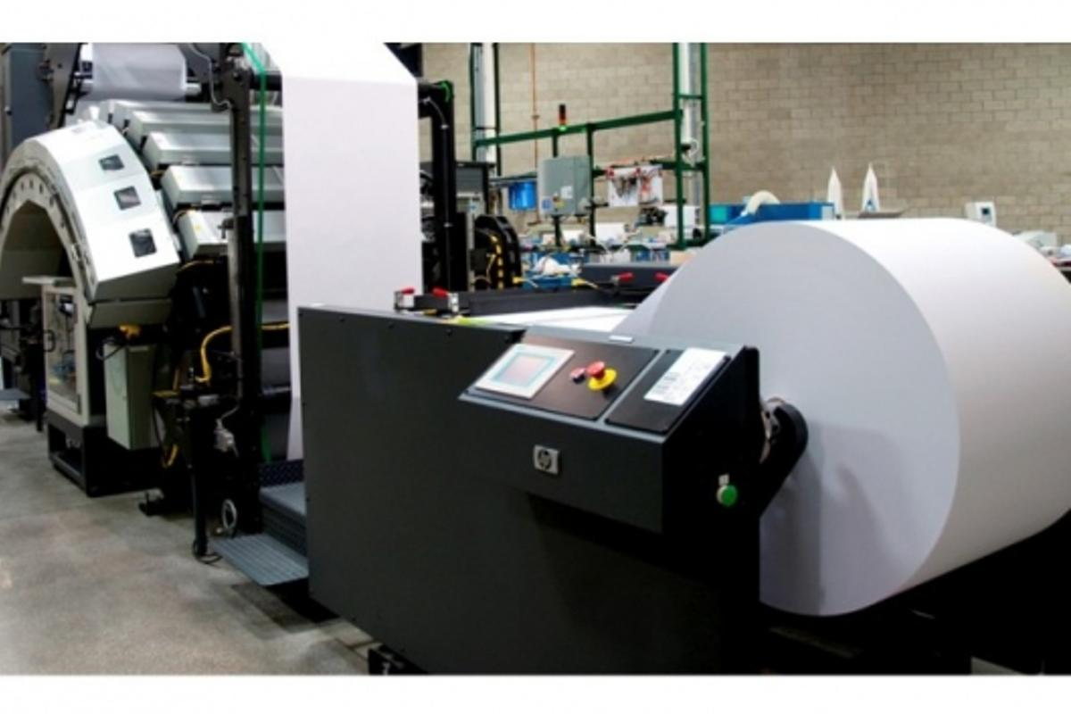 HP's Inkjet Web Press at the open house event in LA