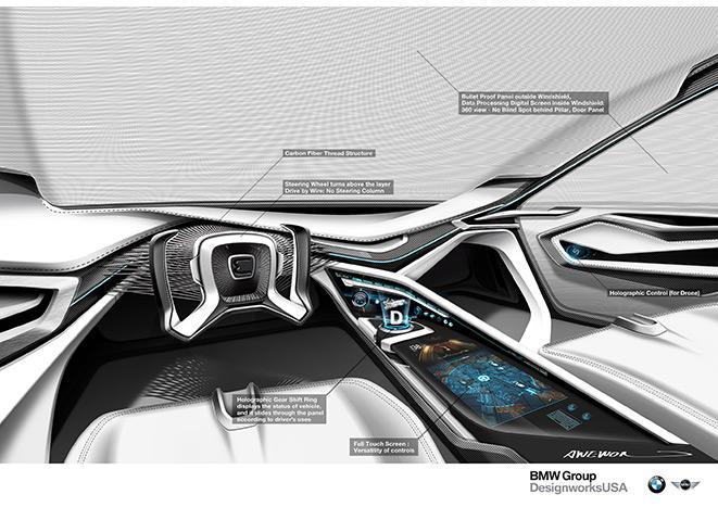 Interior of BMW's E-Patrol