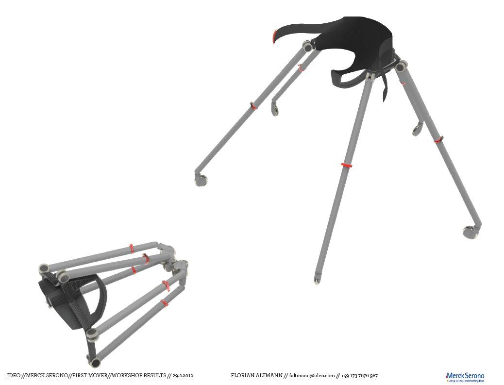 The production version of the Sports Walker would fold up for storage and transport