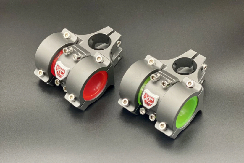 Users can adjust the damping level by selecting different inserts