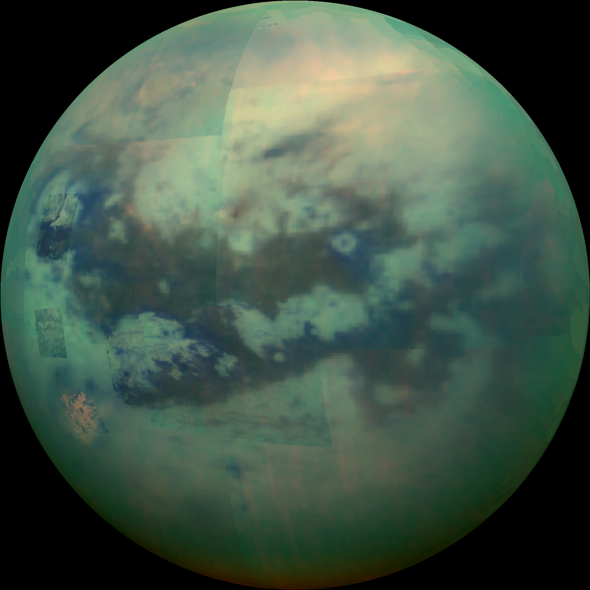 First global map of Titan highlights oceans, plains, dunes and mountains