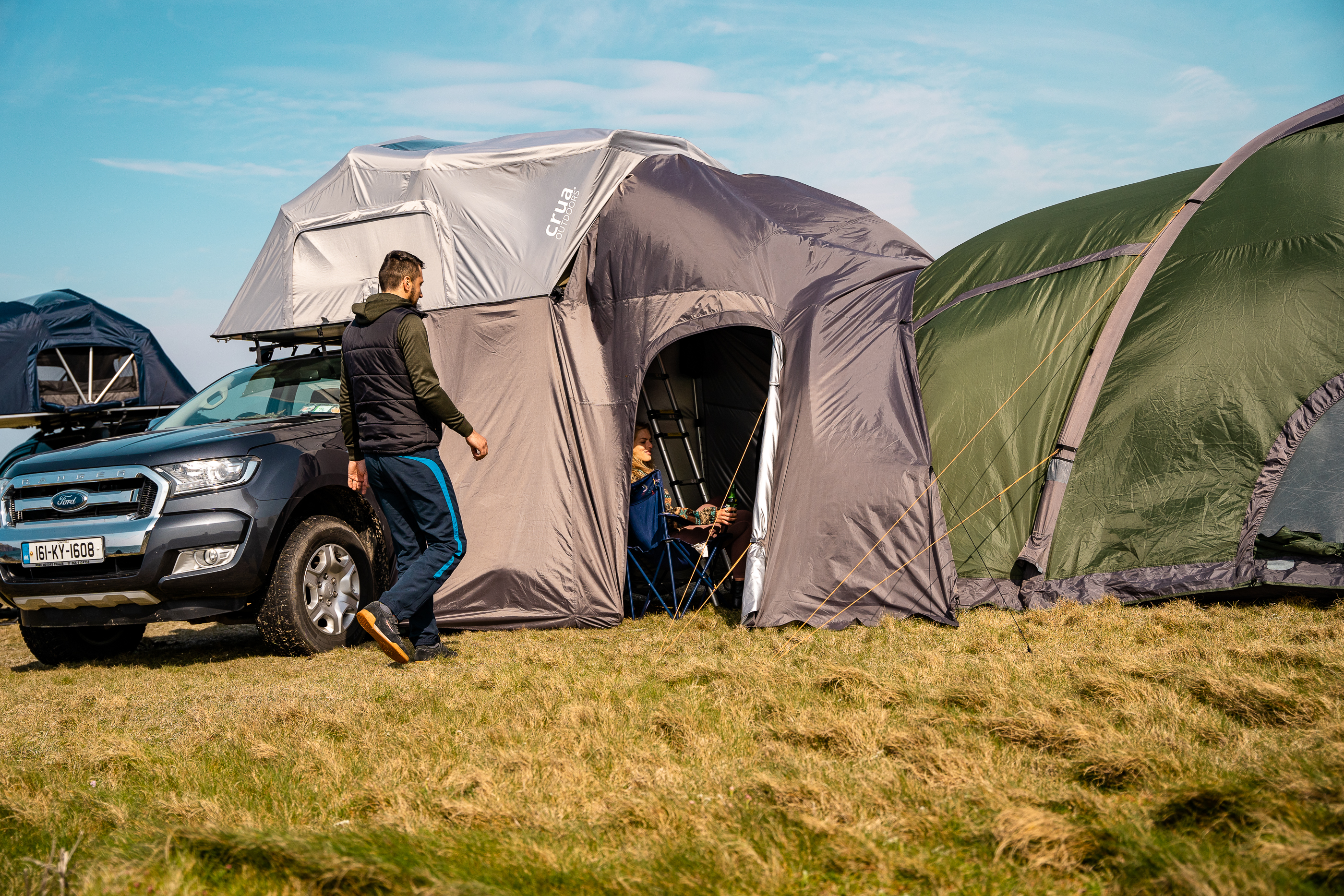 Perhaps the neatest AER trick: it works with Crua's other modular tents to create a multi-story camping village