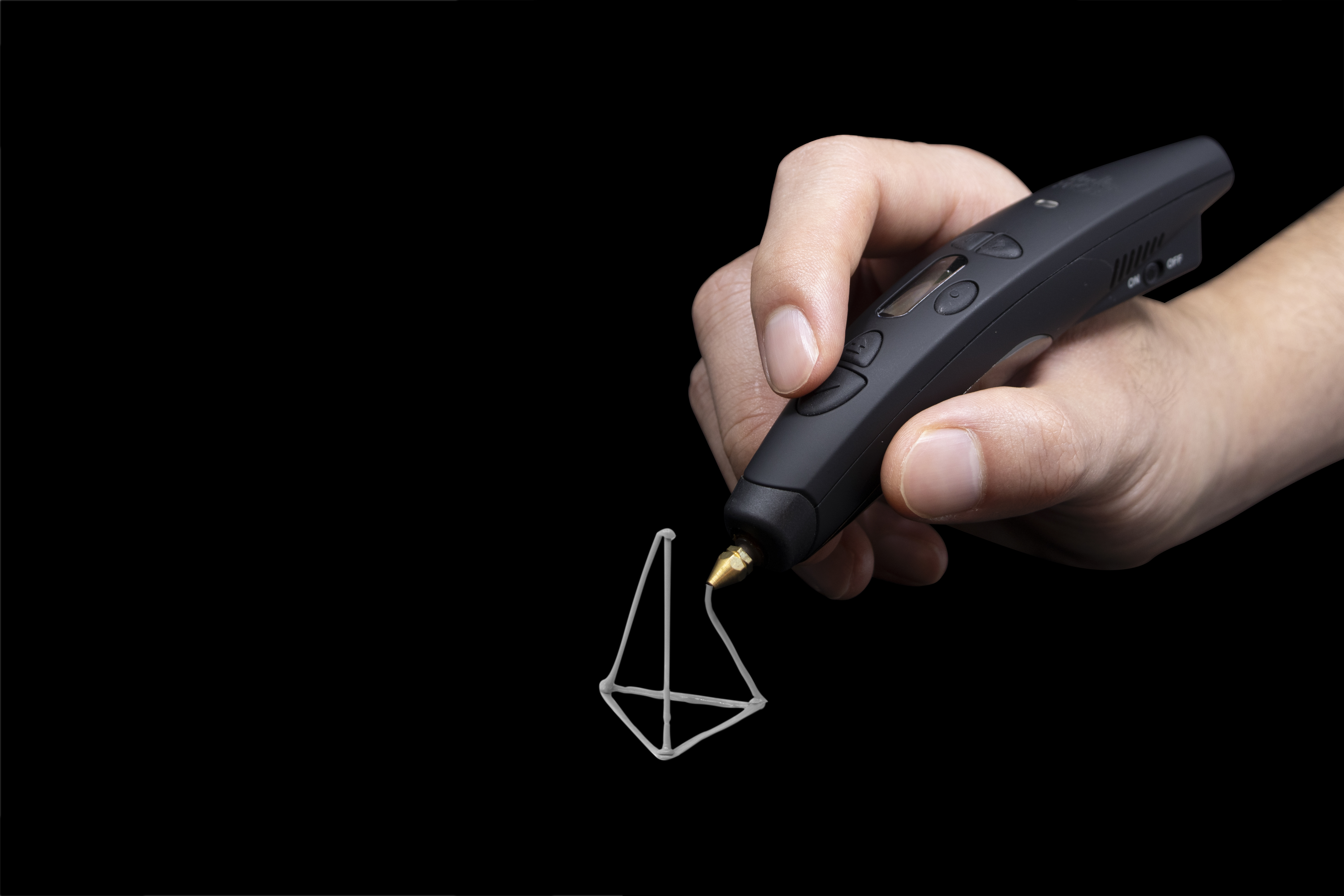 The 3Doodler Pro+ can print in metal, wood and nylon as well as plastics