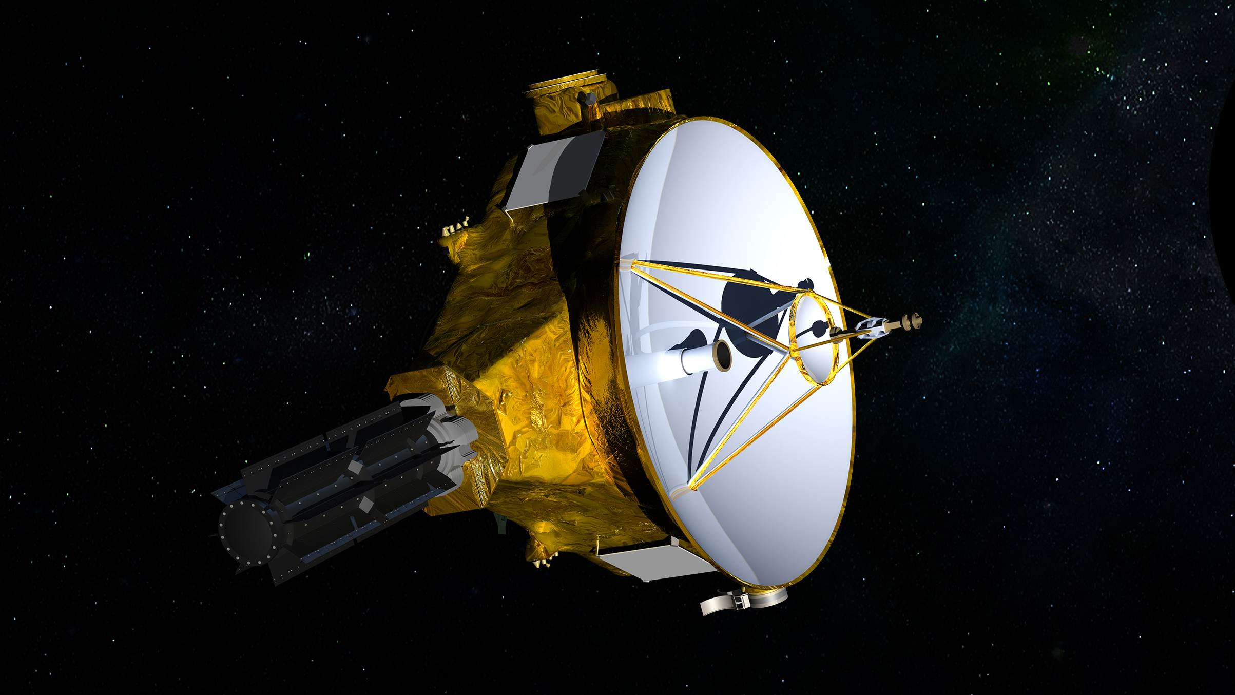 Artist's concept of the New Horizons spacecraft