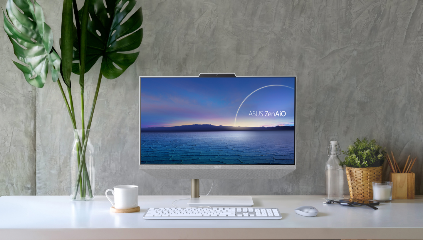 The Zen AiO 24 all-in-one desktop PC benefits from thin bezels for a 93 percent screen-to-body ratio