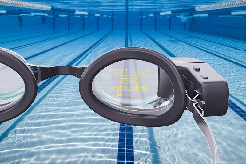 The Holoswim goggles should sell for $149, when and if they reach production