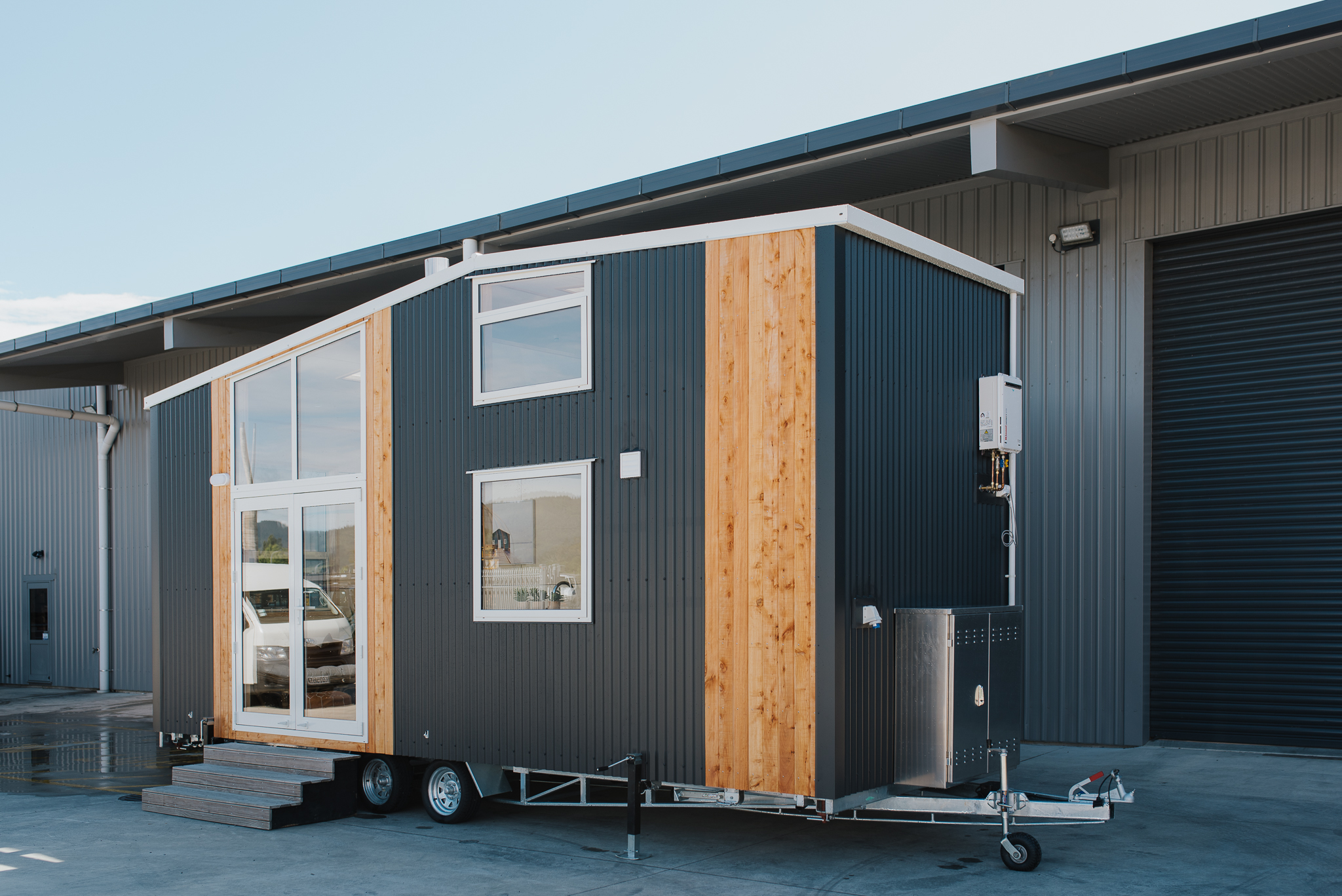 The Kapiti Tiny House measures 7.2 m (23 ft) long