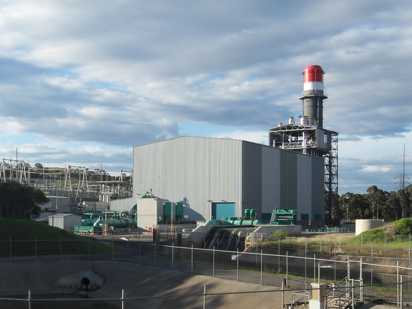 The existing Tallawarra Power Station (pictured) will be expanded with a new hydrogen and gas capable power plant